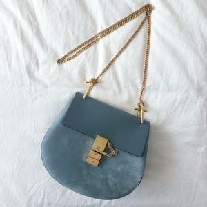 Chloe Drew Suede and Leather Bag